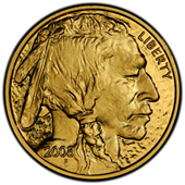 A gold buffalo coin