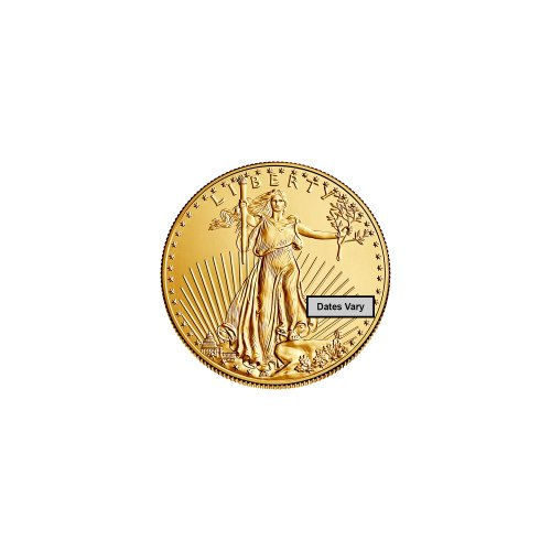 An iconic gold American eagle