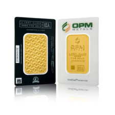 1 oz .9999 Elemetal Gold Bar (Carded)