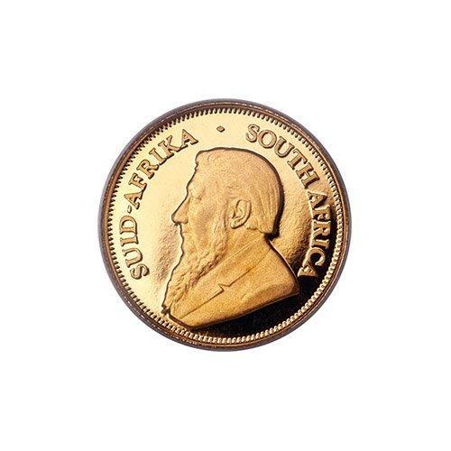 A popular Krugerrand coin