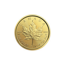 The maple leaf gold coin price is stable
