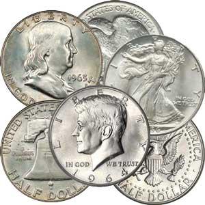 90% Silver Half Dollars (Pre-1965)