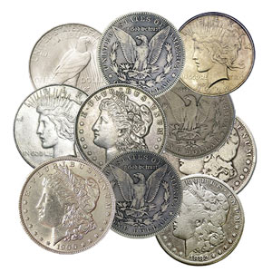 Cull Silver Dollars (Peace and/or Morgan)