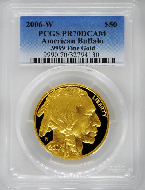 2006-W PCGS PR70 Proof Gold Buffalo $50