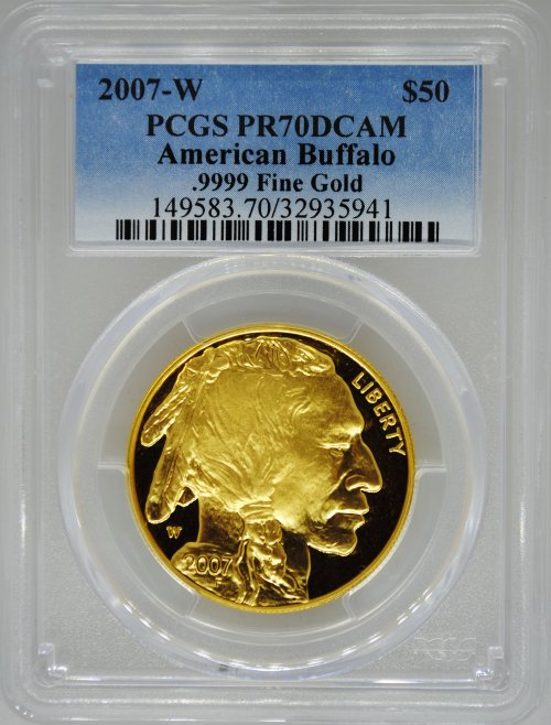 2007-W PCGS PR70 Proof Gold Buffalo $50
