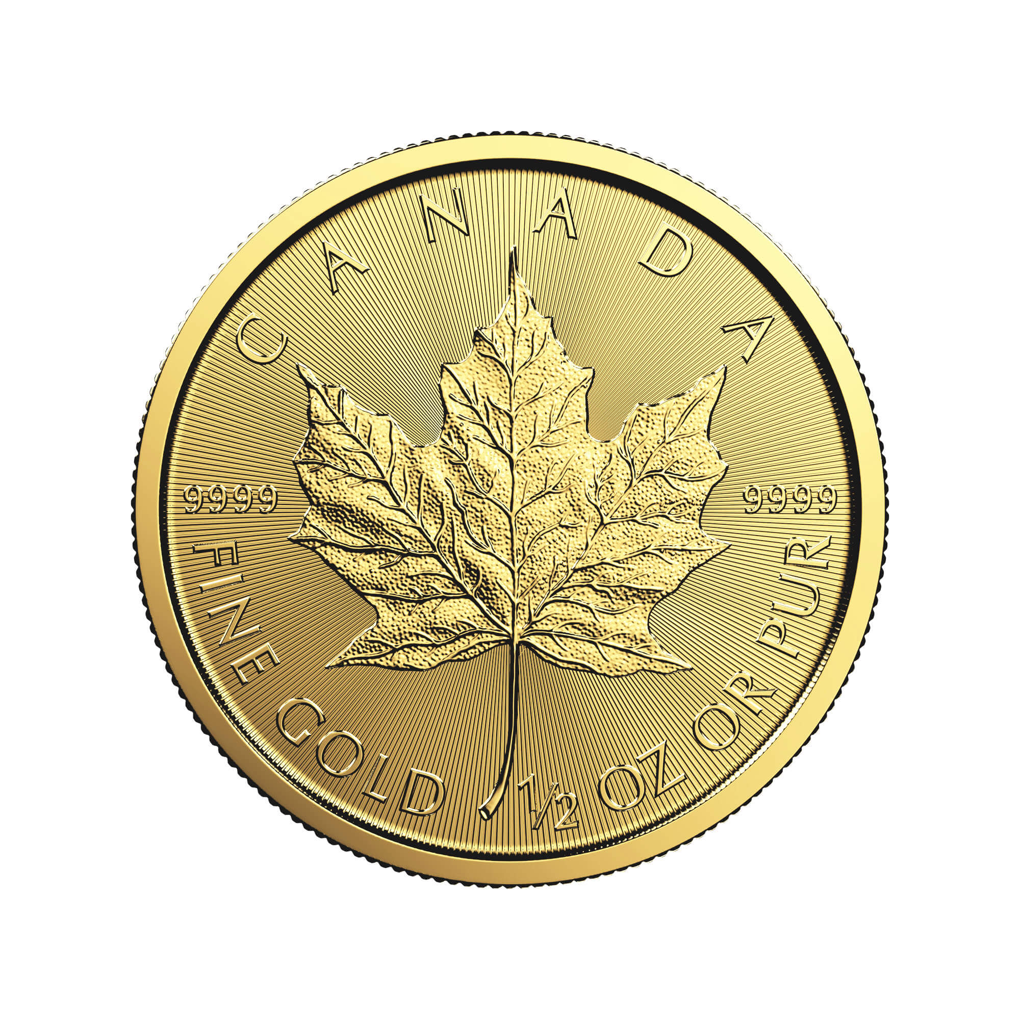 1/2 oz Canadian Gold Maple Leaf Coin (Dates Vary, BU)