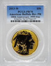 2013 PCGS PR70 Reverse Proof Gold Buffalo