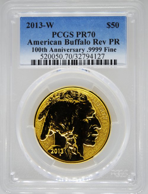 2013 PCGS PR70 Reverse Proof Gold Buffalo