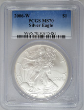 2006-W PCGS MS70 Burnished Silver Eagle
