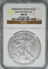 2014-W NGC MS70 Burnished Silver Eagle