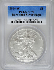 2014-W PCGS MS70 Burnished Silver Eagle