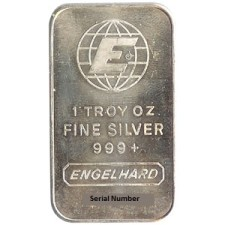 1 oz .999 Engelhard Silver Bar