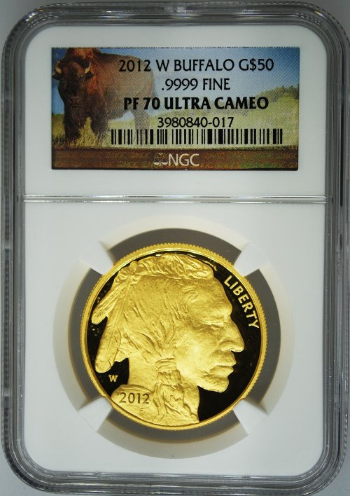 Certified Proof Gold Buffaloes