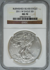 2011-W NGC MS70 Burnished Silver Eagle