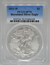 2011-W PCGS MS70 Burnished Silver Eagle