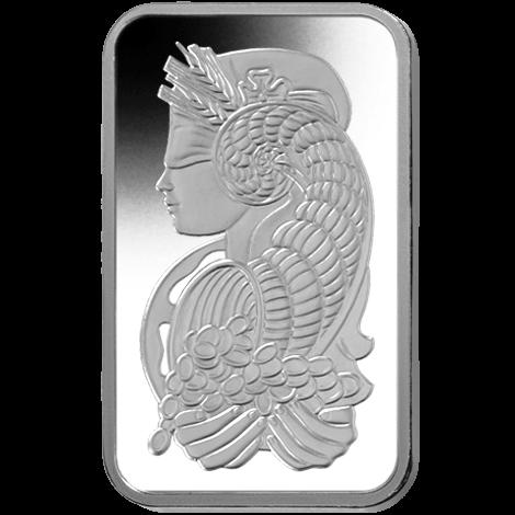 10 oz .9995 Pamp Fortuna Platinum Bar
