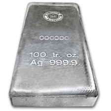 Royal Canadian Mint 100 oz Silver Bar