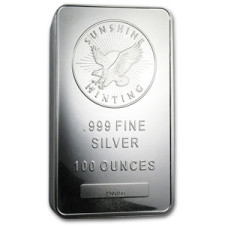 100 oz Silver Bar – Sunshine Mint – SMI