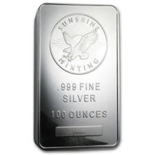 100 oz Silver Bar – Sunshine Mint – SMI
