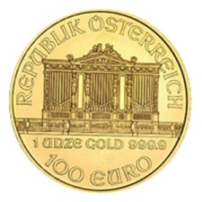 Austria 1 oz Philharmonic Gold Coin (Year Varies)