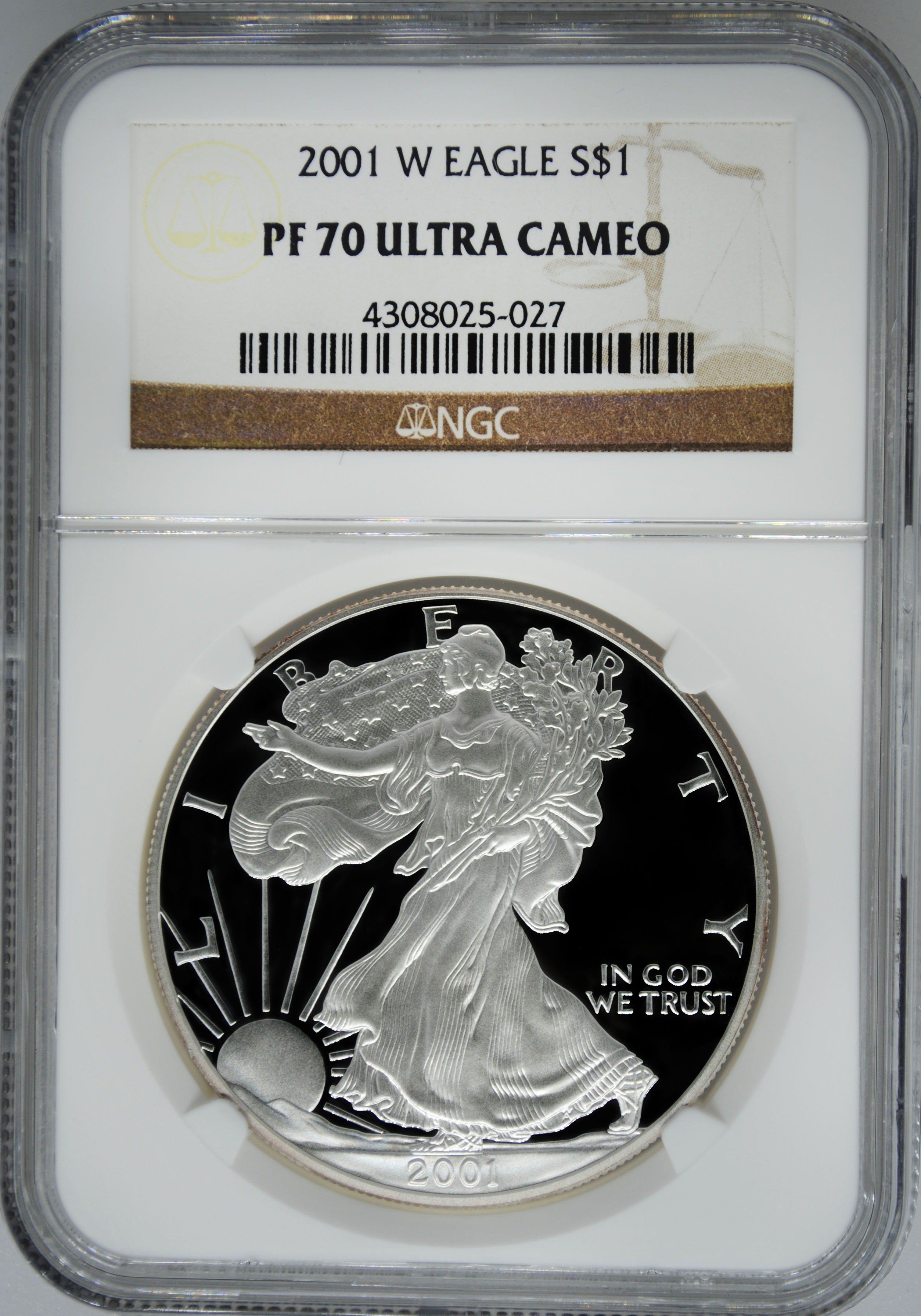 2001 W Ngc Pf70 Ultra Cameo Proof Silver Eagle