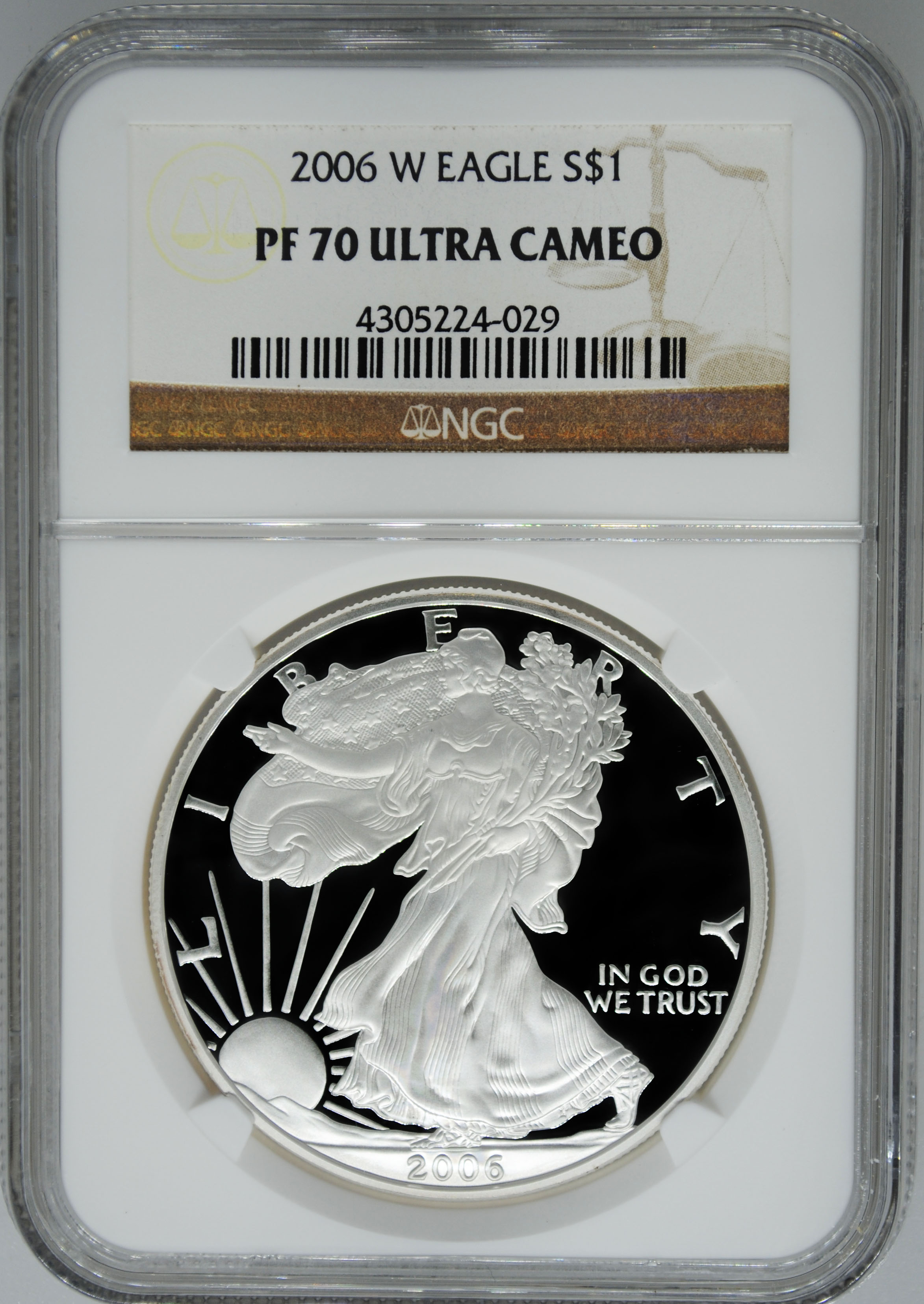 2006 W Ngc Pf70 Ultra Cameo Proof Silver Eagle