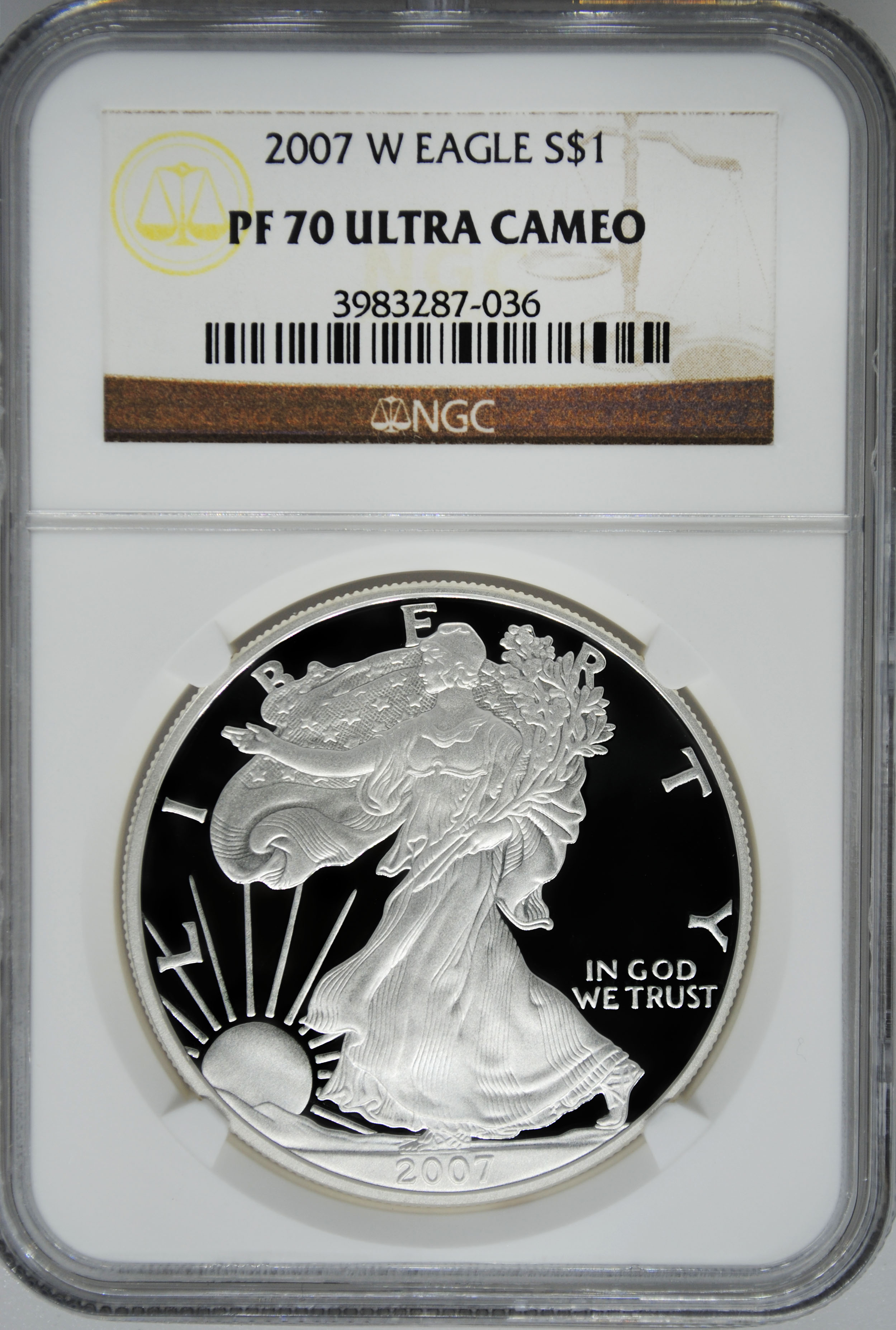 2007 W Ngc Pf70 Ultra Cameo Proof Silver Eagle