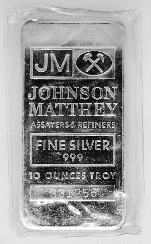 10 oz .999 JM Silver Bar