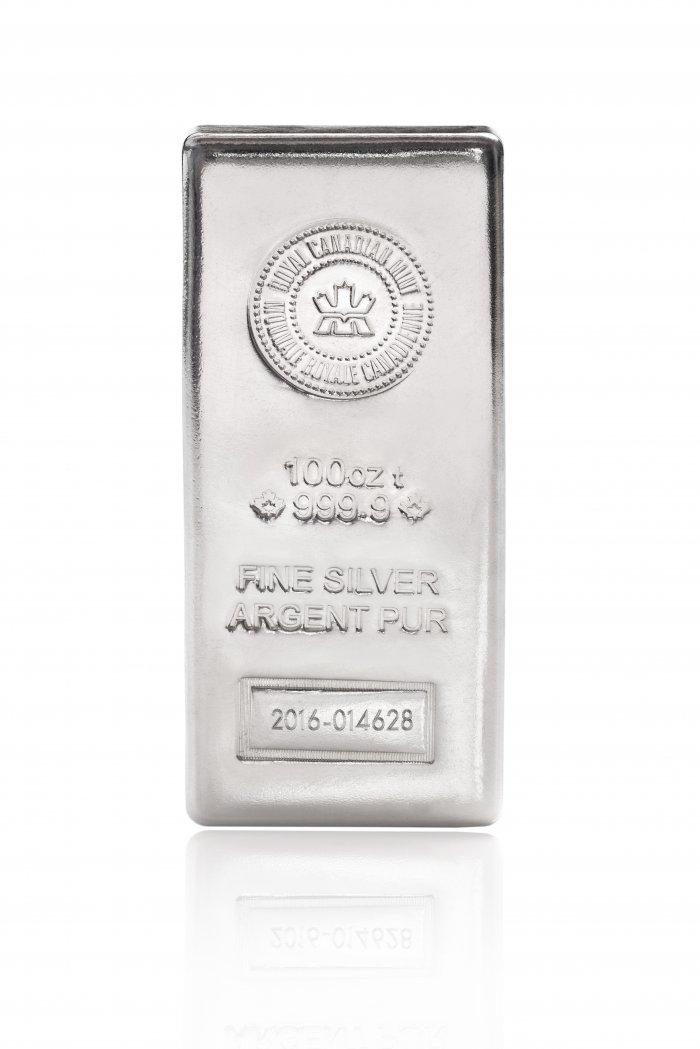 100 ounce silver bar